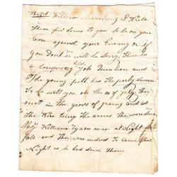 1829-33: Kilkenny and Tipperary Tithe War letters collection including anonymous warning letter
