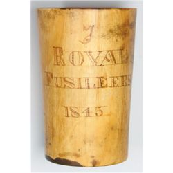 1845: 7th Regiment of Foot, Royal Fusiliers horn cup