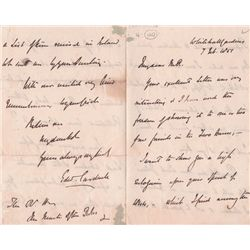 1851 (7 February) Edward Cardwell handwritten and signed letter