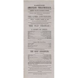 1861 (22 March) Portobello Barracks Dublin amateur theatricals performance poster
