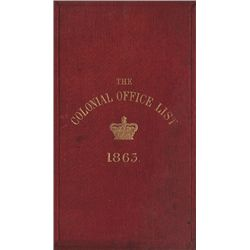 1863-1912: British colonial books collection including Colonial Office Lists