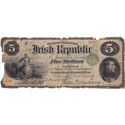 1866: Fenian Bond Irish Republic Five Dollars