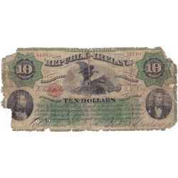 1866: Fenian Bond Irish Republic Ten Dollars