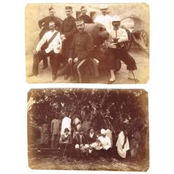 1870-90: J J Crooks photograph album including portraits, military and colonial scenes