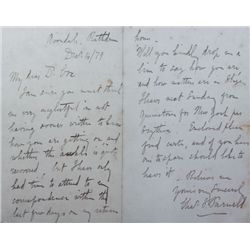 1879 (14 December) Charles Stewart Parnell handwritten and signed letter