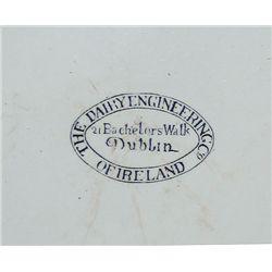 circa 1910: Dairy Engineering Co. Dublin creamer bowl by Belleek