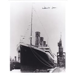 1912: Millvina Dean signed Titanic photograph