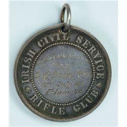 1869-70: Irish Civil Service Rifle Club Challenge Cup medal