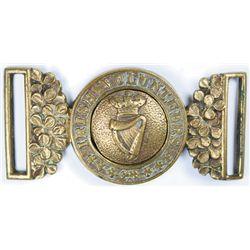 circa 1870: London Irish Rifles belt buckle