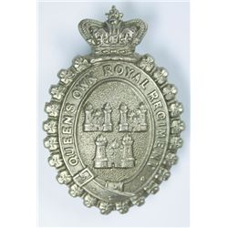 1874-1881: Queen's Own Royal Dublin City militia other ranks glengarry badge.