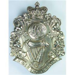 circa 1880: Liverpool Irish Victorian Sergeant's pouch belt plate