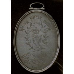 19th Century: Irish militia badges glass plate negatives