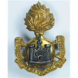 circa 1895: Royal Inniskilling Fusiliers officers and other ranks 'Tirah' shoulder titles