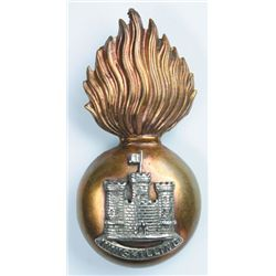 Royal Inniskilling Fusiliers badges including busby badge