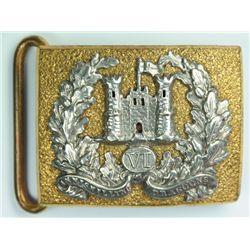 circa 1900: 6th Inniskilling Dragoons general service and dress waist belt clasps