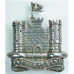1908: 6th Inniskilling Dragoons hallmarked badge