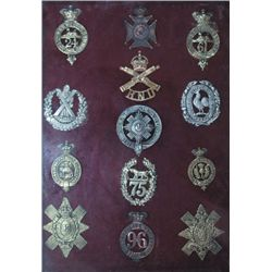 1874-1918: Collection of British Army badges