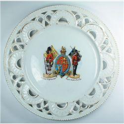 1902-1922: Antrim Artillery and Royal Dublin Fusiliers ceramic plates