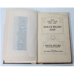 1914-18: Great War Bank of Ireland staff service roll of honour