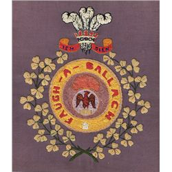 1914-18: Leinster Regiment and Royal Irish Fusiliers embroideries