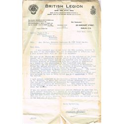 1914-18: Legal documents and correspondence relating to Private James Phelan Irish Guards and his Ar