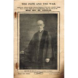"1915-16: Irish Catholic First World War pamphlet ""The Pope and the War"""