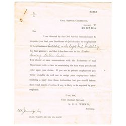 1916 Rising: Travel permit and letter requesting bearer's movements in Dublin