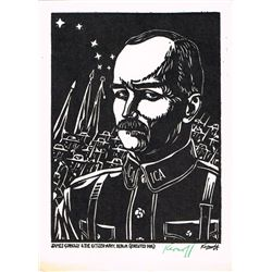 1916: Harry Kernoff signed woodcut of James Connolly