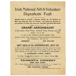 1916-21: Irish National Aid & Volunteer Dependents Fund visitor card and handbill