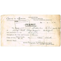 1916-22: Rising, War of Independence and Civil War permits collection