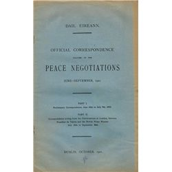1921: Dail Eireann Peace Negotiations publication, official correspondence June-September