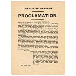 1922 (28 June) Proclamation of Civil War by Oglaigh na héireann (Anti Treaty Forces) issued by Liam