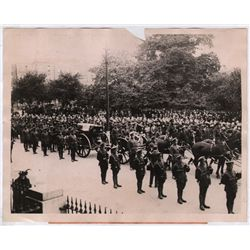 1922: Michael Collins funeral procession press photograph