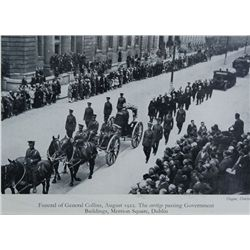 1916-22: Michael Collins portrait and funeral framed prints