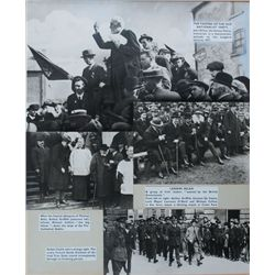 1910-23: Irish historical photograph collage including Michael Collins, Arthur Griffith, John Dillon