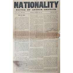1919-21: War of Independence period newspapers including, Nationality, The Irish Nation etc.
