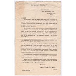 1923 (12 October) W T Cosgrave printed letter regarding the employment of demobilised National Army