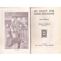 1924: Dan Breen My Fight For Irish Freedom and framed signature.