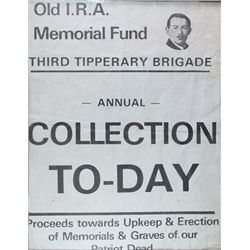 3rd Tipperary Brigade Old I.R.A. Memorial Fund collection day poster