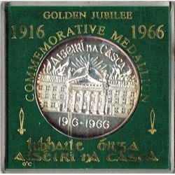 1966: 50th Anniversary of 1916 Rising cased commemorative silver medal