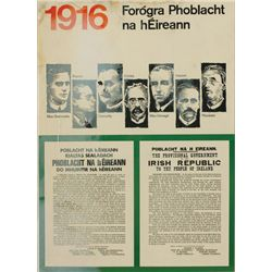 1916 Rising: 50th anniversary Government poster for schools