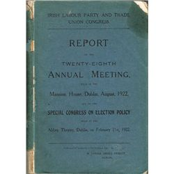 1922: Irish Labour Party and Trade Union Congress annual meeting report