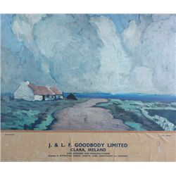 circa 1930: Goodbody jute manufacturers Offaly, Paul Henry advertisement poster