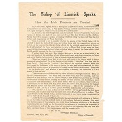 1917-48: Irish Catholic Church related documents and pamphlets including poetry handbill eulogising