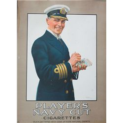 1930s Poster: Player's Navy Cut Cigarettes advertisment