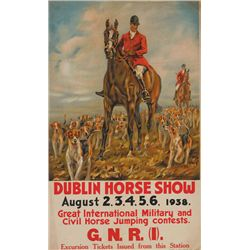 1938 Poster: Great Northern Railway - Dublin Horse Show