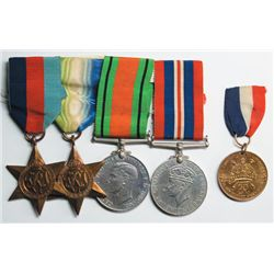 1939-45 World War II British medals group also 1937 Coronation medal