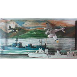 1939-46: Emergency period Irish Air Corps, Naval Service and German Wehrmacht wooden model display