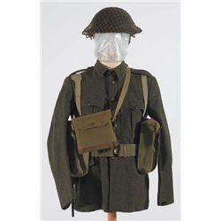 1939-46: Irish Army other ranks uniform including webbing