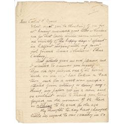 1948 (8 August) Maud Gonne MacBride handwritten and signed letter to Cathal O'Byrne